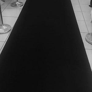 Carpet Runner Black 10 x 1.2m