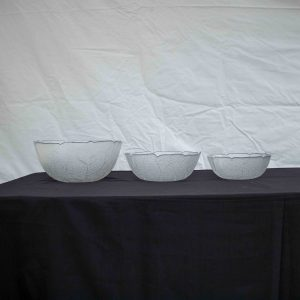Salad Bowls- Glass Patterned/ Plain (23cm)