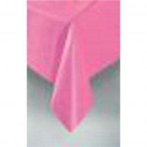Hot Pink Rectangular Plastic Tablecloth