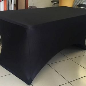 Lycra Black Table Cover 1.8m