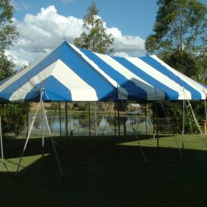 Peg & Pole 5.4 x 10.8m Blue & White
