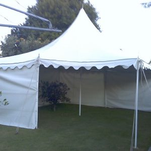 Peg & Pole White 6 x 6m