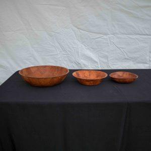 Salad Bowls Woven Wood (35cm)
