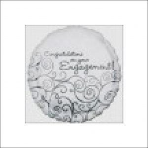 Engagement Foil Balloon Silver