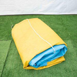Tarp – 3.6 x 6.6m (blue & yellow)