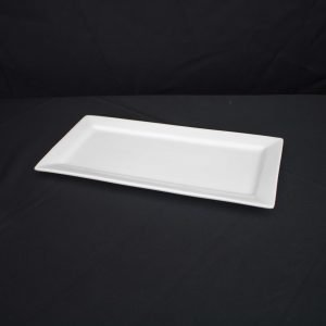 White China Platter- Rectangular (36 x 18cm)