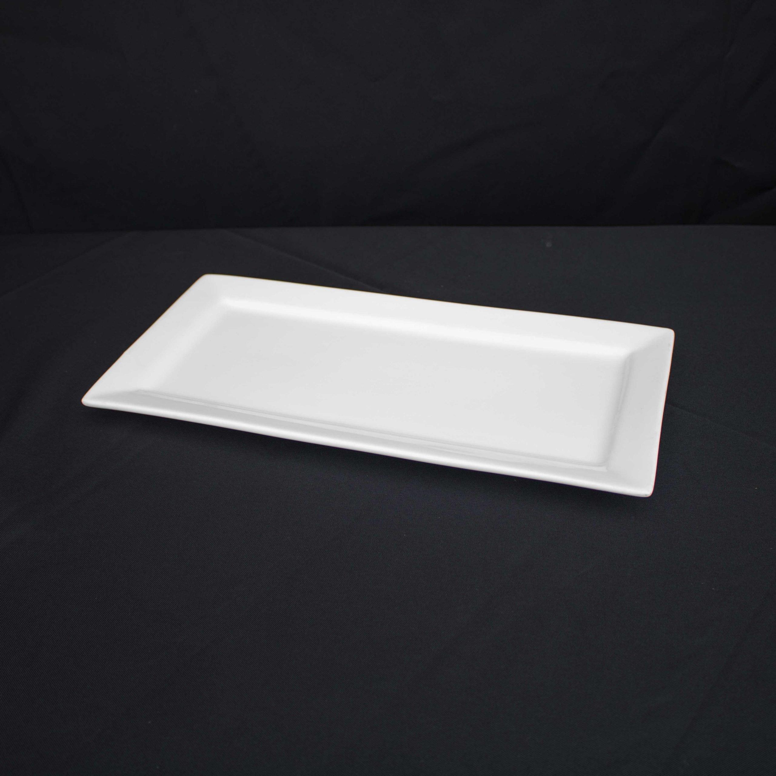White China Platter-Rectangular